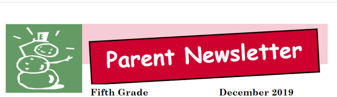 Dec. 2019 Parent Newsletter