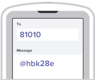 cellphone screen displaying text message to and message fields