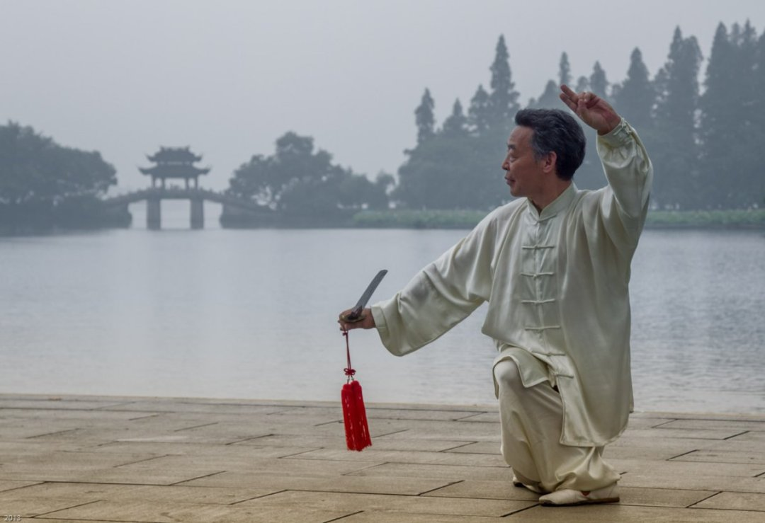 Early Morning Exercise in West Lake, Hangzhou, China