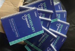 Vocabulary organizer books