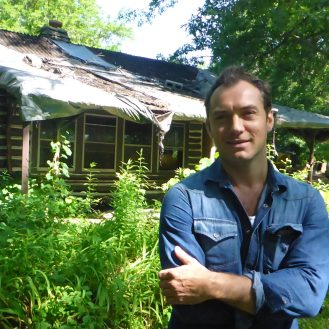 Jude Law at Thomas Wolfe Cabin