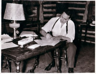 Thomas Wolfe at Cabin writting desk