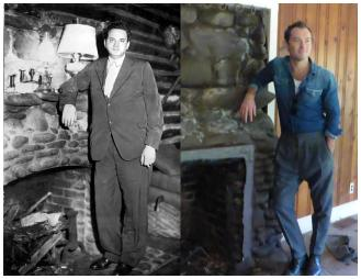 Jude Law portraying Thomas Wolfe in upcomming movie - at Cabin fireplace
