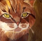 A cat named WART! By the way, the cat was the hardest thing I have painted so far!