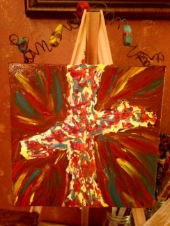 COLORFUL HANGER CROSS-canvase