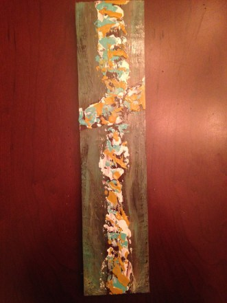 Wood panel cross