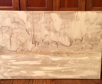 24 x 36 watercolor abstract