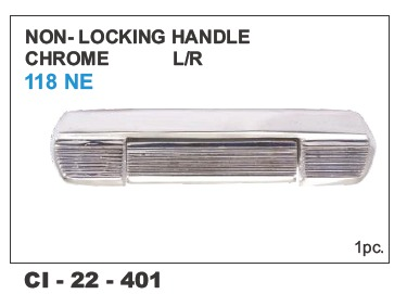 Locking Handle Chrome - Premier 118NE