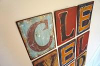 Letter Wall Art - diy: framed letter wall art with ...