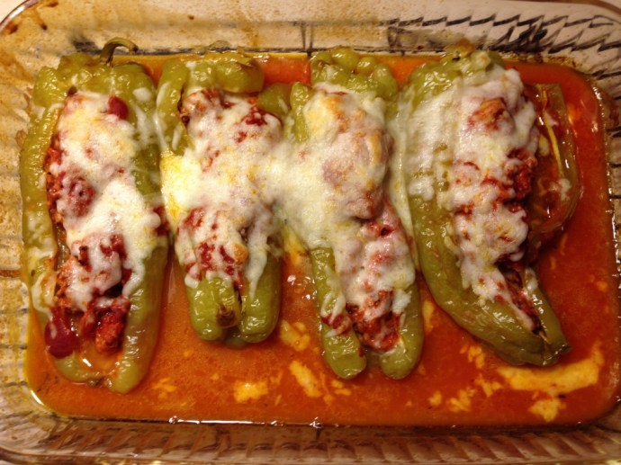 Sausage Stuffed Cubanelle Pepper - After