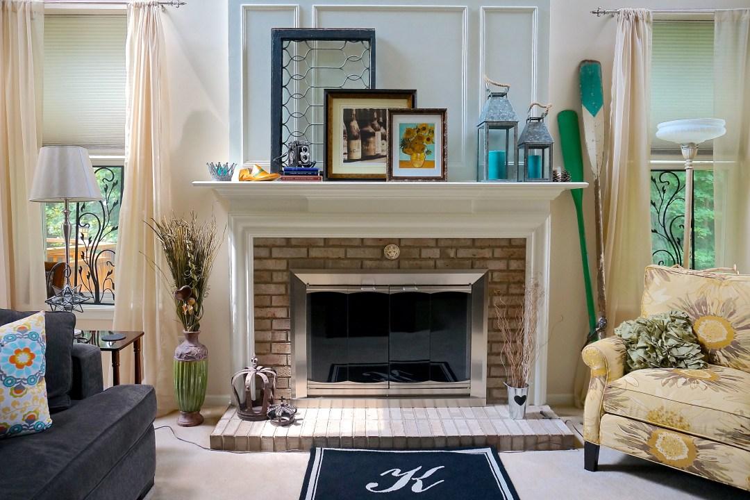 Summertime Fireplace Decor