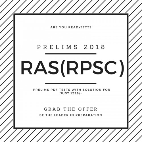 RAS(RPSC) Prelims Test Series 2018 (Only 24 Tests with