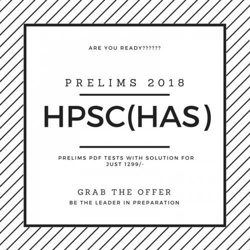 HPSC Prelims Test Series 2020 (Only 24 Tests with solution