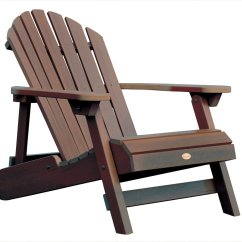 Ace Adirondack Chairs Desk Chair Lumbar Pillow Highwood Synthetic Wood Outdoor Furniture Folding Reclining Adult Weathered Acorn Color