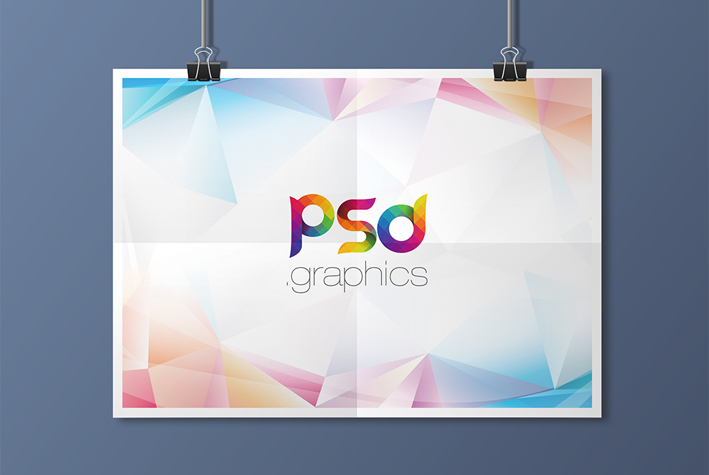 Hanging Landscape Poster Mockup Free PSD  PSD Graphics
