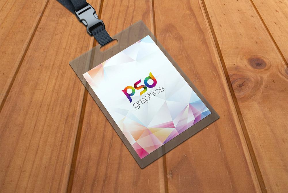 Identity Card Holder Mockup PSD  PSD Graphics