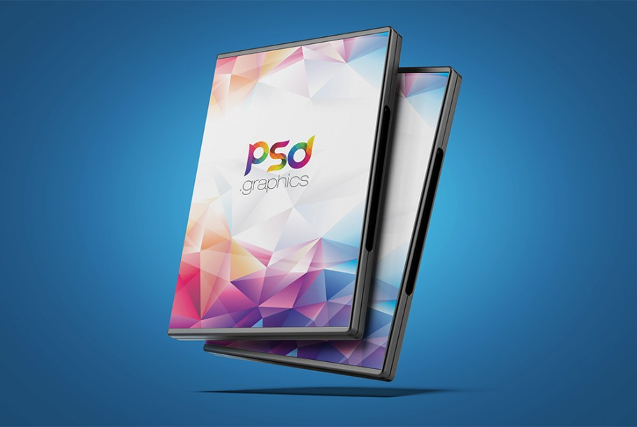 dvd box cover mockup free psd