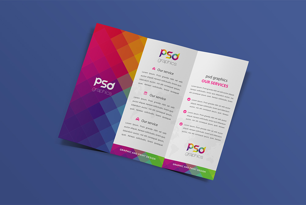 Trifold Brochure Mockup Free PSD  PSD Graphics