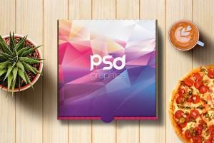 Pizza Box Mockup Free PSD