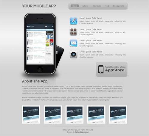 Mobile App's Layout 2