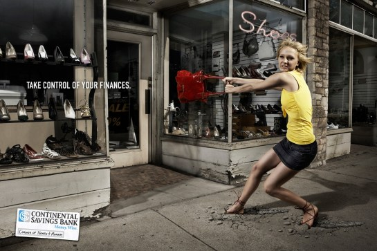 Continental Savings Bank Purse Funny Print Ads Crazy but Creative