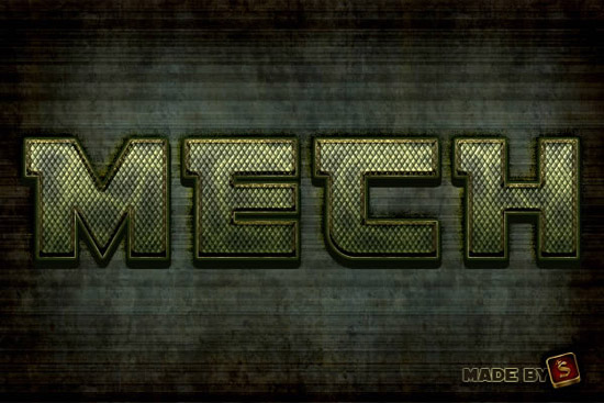 Create a Mech-Inspired Text Effect in Photoshop Using Layer Styles | Psdtuts+