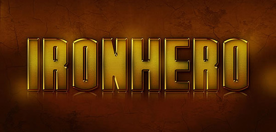 "Quick Tip: Create an ""IronHero"" Text Effect in Photoshop"