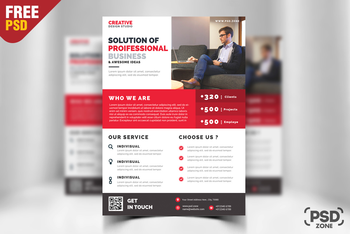 business promotion flyer psd