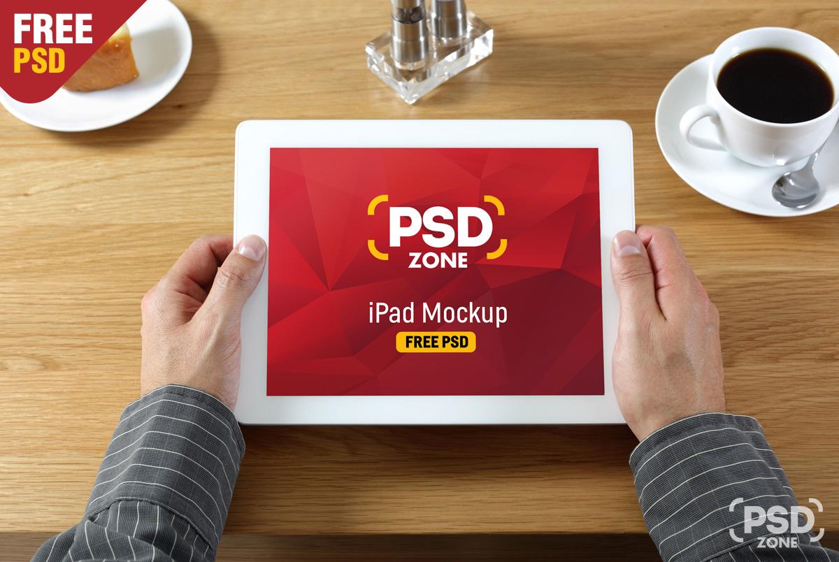 IPad In Hand Mockup Free PSD PSD Zone
