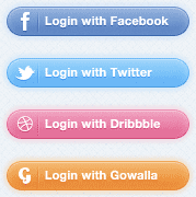 Login with Social media buttons