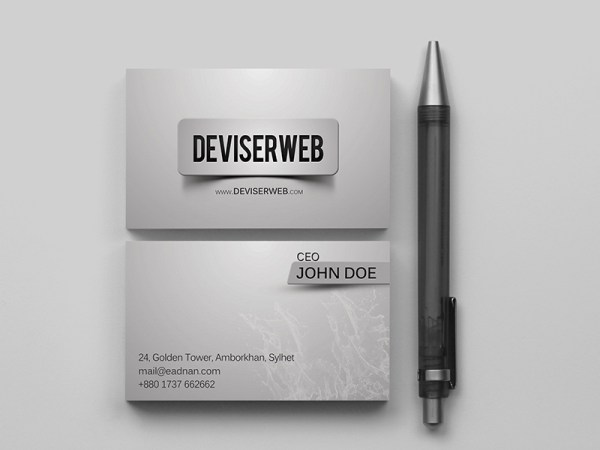 free premium style business card template psd download