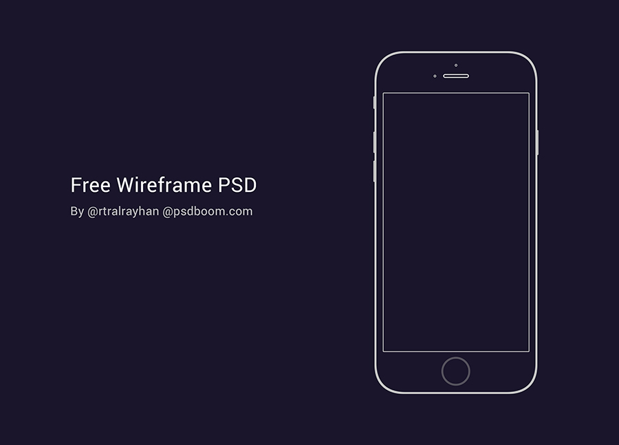 free psd of iphone 6 wireframe