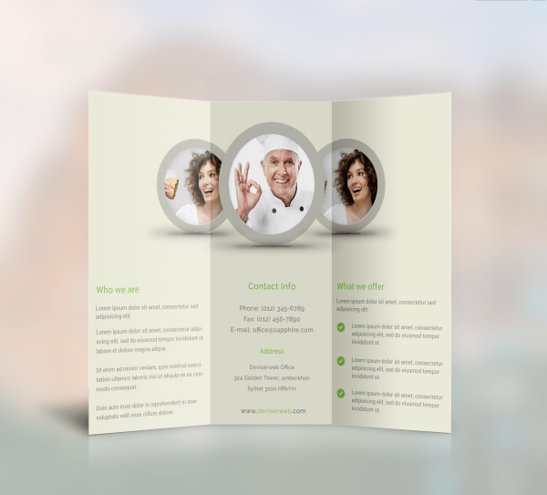 Free Trifold brochure template download