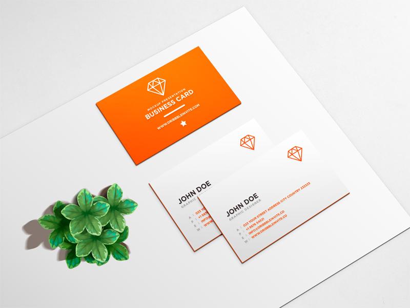 Beautiful Business Card Mockup PSD – PSDboom