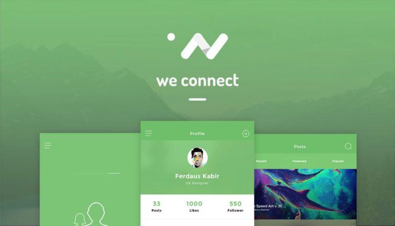 we connect app nui psd psdboom