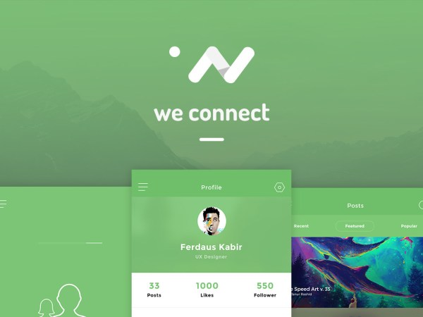 we connect app nui psd psdboom
