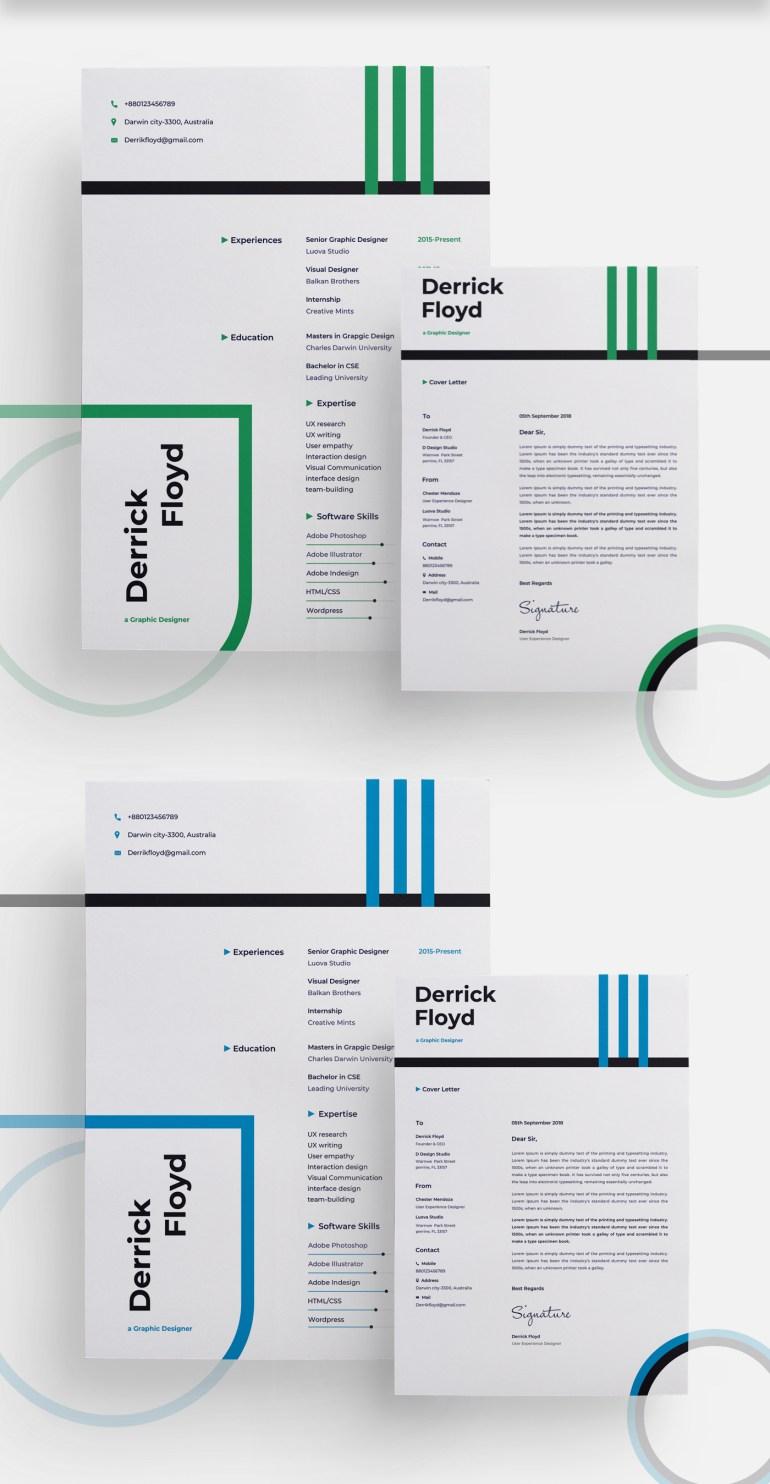 free modern cv  resume template  u2013 psdboom
