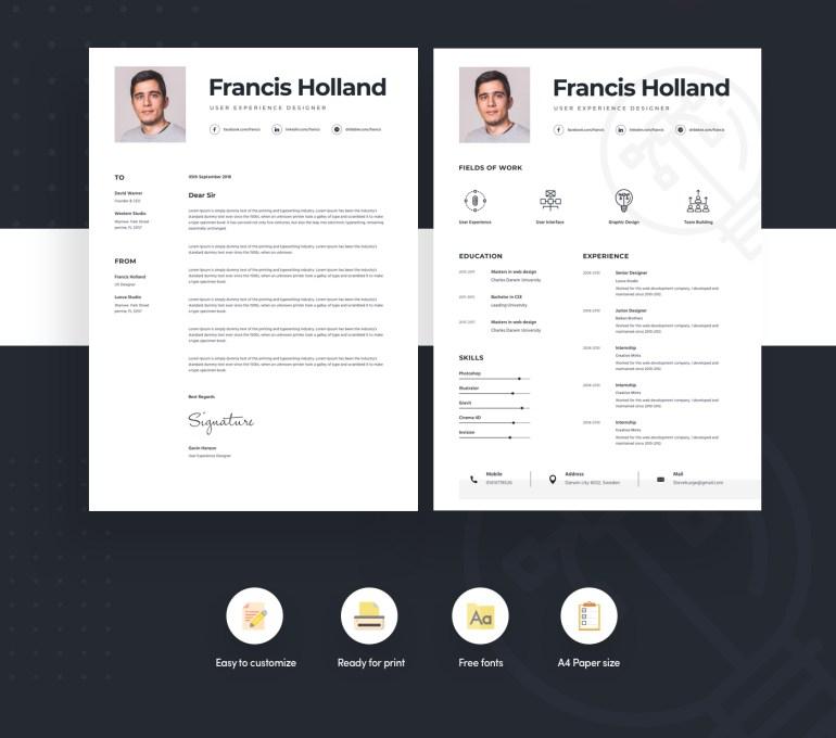 Free Resume Template For Designer 2