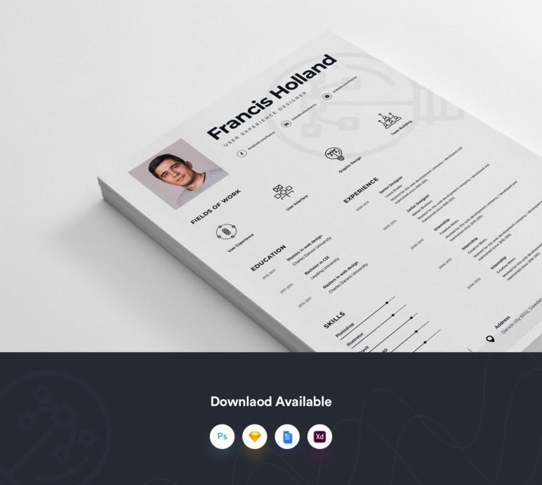 Free Resume Template For Designer 3