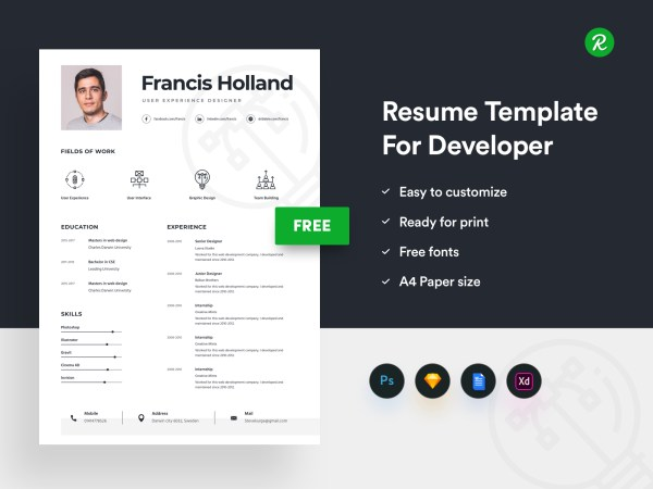 Free Resume Template For Designer thumb