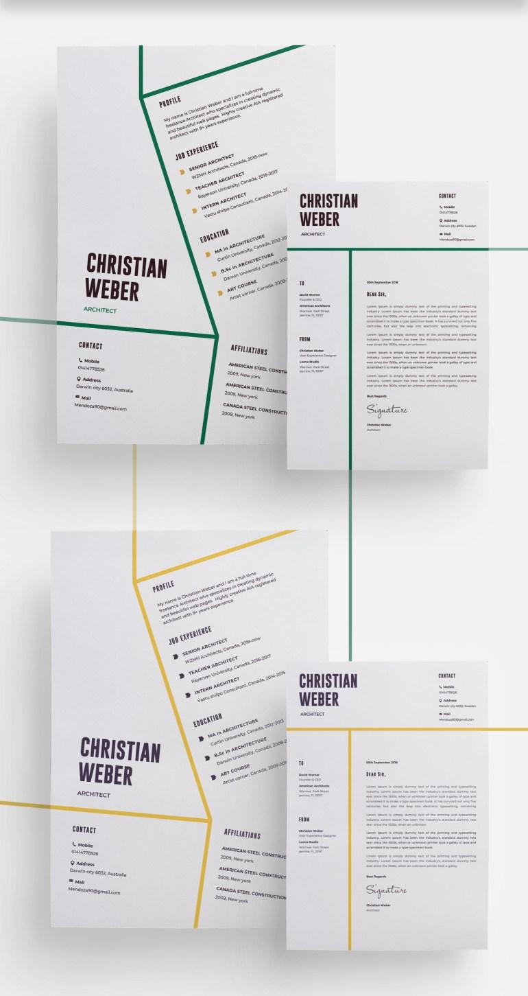 2. Architects CV/Resume Template