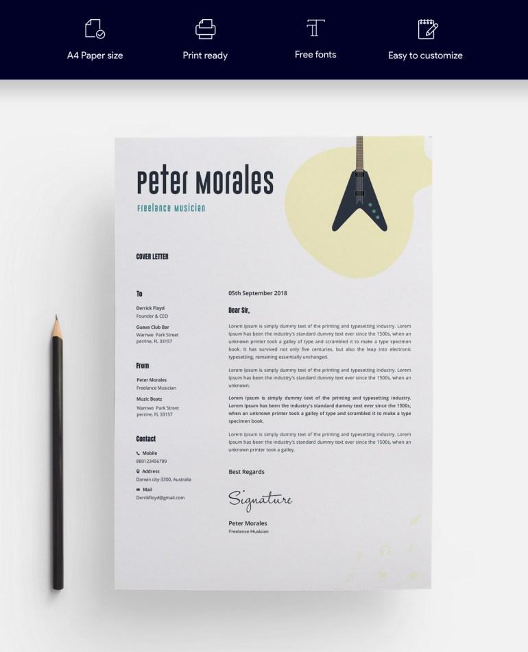 2. Free Resume Template For Designer
