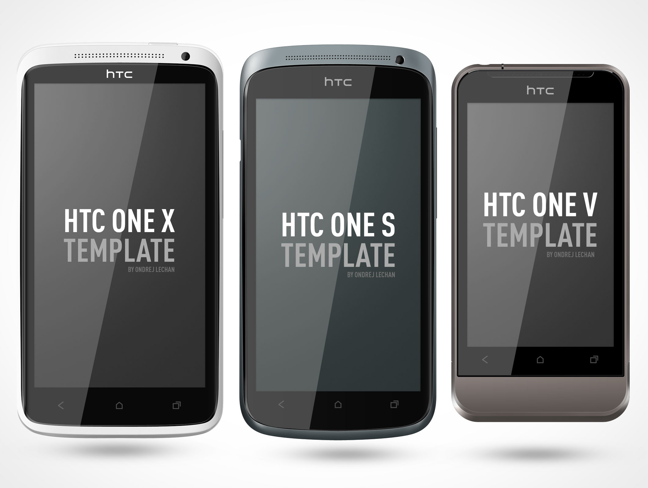 HTC One Android Smartphone Mockup  Market Your PSD