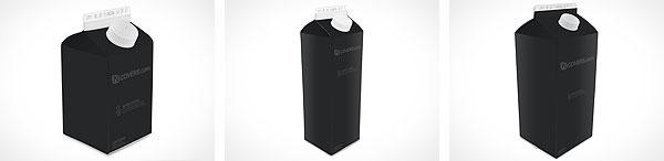 PSD Carton Mockup For Milk, Juice, Water
