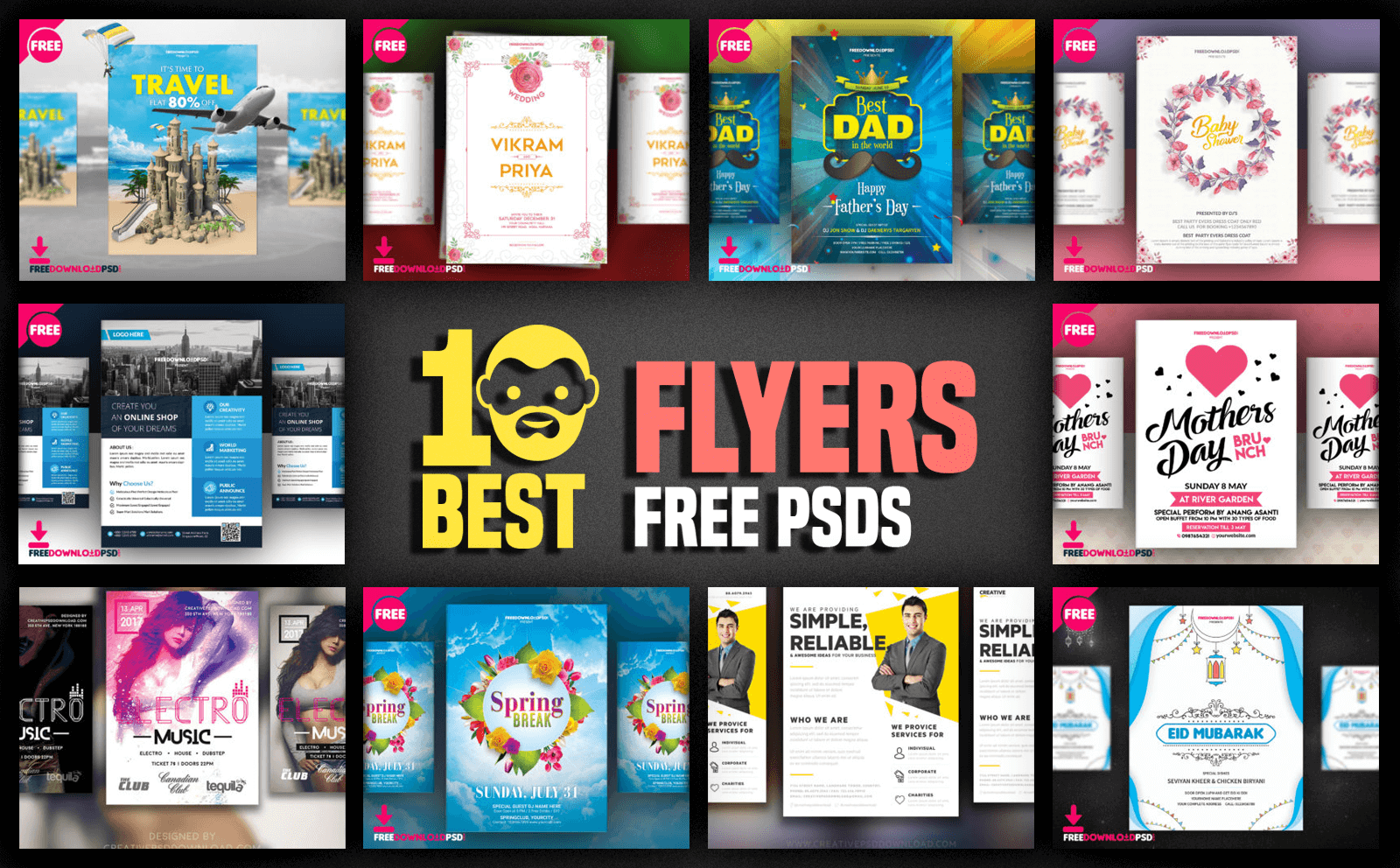 10 Best Flyers Free PSD PsdDaddy Com