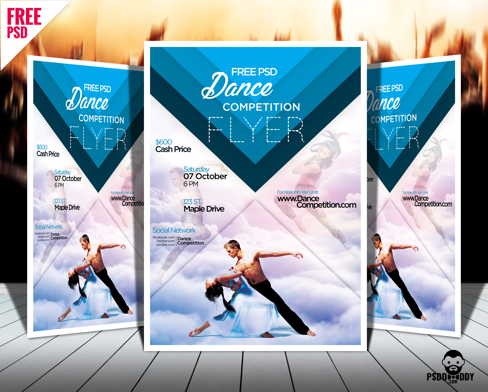 Download Dance Competition Flyer PSD PsdDaddy Com