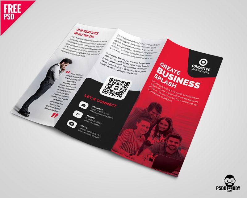 Business Tri-fold Brochure Template Design PSD | PsdDaddy.com