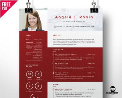 20 Best Resume Templates Free PSD | PsdDaddy.com