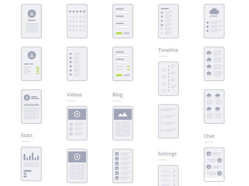 Free Wireframe Kits & Templates for UI Designers