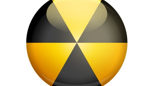 3D radiation sign and PSD danger icon